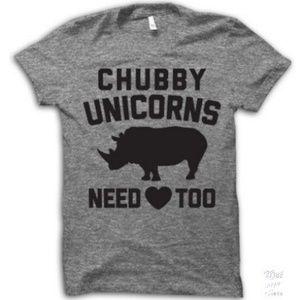 Chubby Unicorns Need 🖤 Too   Gray Size L